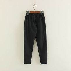 Mushi - Plain Drawstring Pants