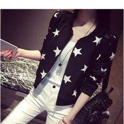Oaksa - Star Print Zip Jacket