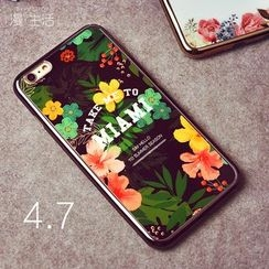 Kindtoy - Floral Print iPhone 6/6+ Silicone Case