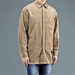THE COVER - Pocket-Front Corduroy Shirt