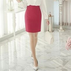 ode' - Slit-Back Colored Pencil Skirt