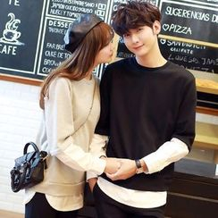 belle epoque - Couple Matching Mock Two Piece Pullover