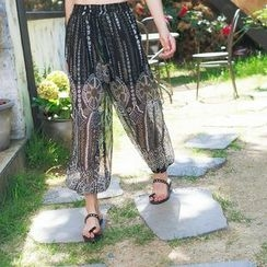 Ranche - Patterned Chiffon Pants
