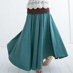 CatWorld - Banded-Waist Maxi Skirt