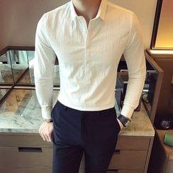 KANGI - Long-Sleeve Half Placket Shirt