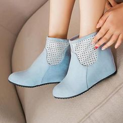 Sidewalk - Perforated Hidden Wedge Ankle Boot