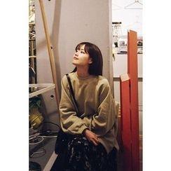 CHERRYKOKO - Brushed-Fleece Lined Cotton Sweatshirt