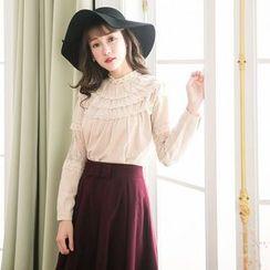Tokyo Fashion - Lace Trim Blouse
