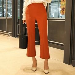 DABAGIRL - Zip-Side Boot-Cut Dress Pants