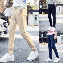 ZONZO - Plain Slim Fit Drawstring Pants