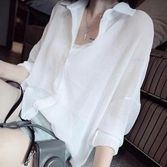 DreamyShow - Loose-Fit Chiffon Shirt