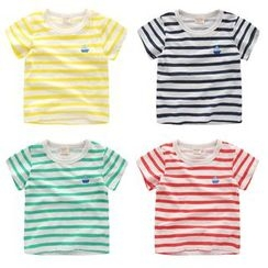lalalove - Kids Striped Short-Sleeve T-Shirt