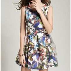 GRACI - Butterfly Print Sleeveless Dress