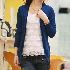 Dream a Dream - Shirred Hem Cardigan