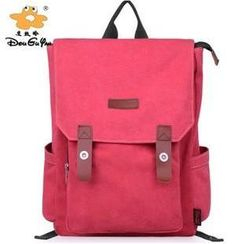 Avant Style - Flap Canvas Backpack