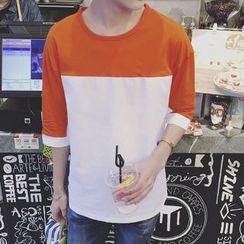 Besto - Two-Tone 3/4 Sleeve T-Shirt