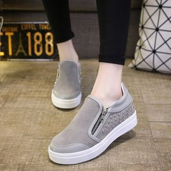 BAYO - Studded Zip-Side Slip-Ons