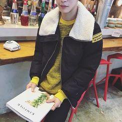 JUN.LEE - Fleece Collar Padded Jacket
