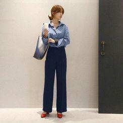 NANING9 - High-Waist Wide-Leg Dress Pants