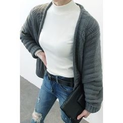 ATTYSTORY - Open-Front Ribbed Cardigan
