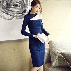 Sherbo - One-Shoulder Sheath Dress
