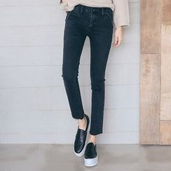 PPGIRL - Flat-Front Skinny Pants