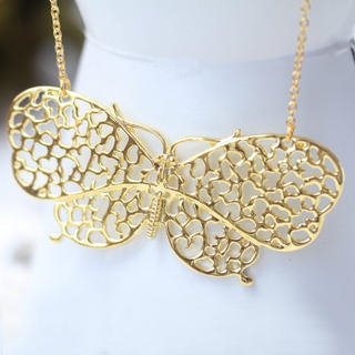 Fit-to-Kill - Golden butterfly Necklace