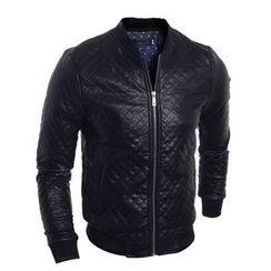 Hansel - Quilted Faux Leather Jacket