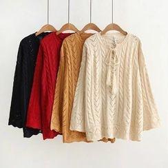 Musume - Tasseled Open-Knit Top