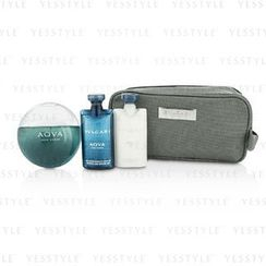 Bvlgari - Aqva Pour Homme Coffret: Eau De Toilette Spray 100ml/3.4oz + Shampoo and Shower Gel 75ml/2.5oz + After Shave Balm 75ml/2.5oz + Pouch