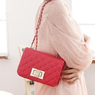 Miss Sweety - Chain-Strap Quilted Shoulder Bag