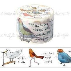 Aimez le style - Aimez le style Masking Tape Primaute Wide Dreamy Bird