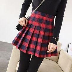 Mayflower - Plaid A-Line Pleat Skirt