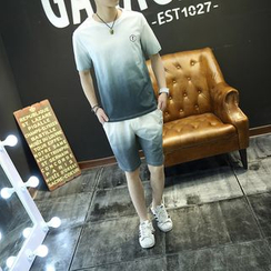 Esflow - Set: Gradient Short-Sleeve T-Shirt + Shorts