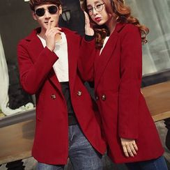 Bay Go Mall - Couple Matching Double-Breasted Coat