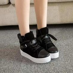 HOONA - High-Top Buckled Sneakers