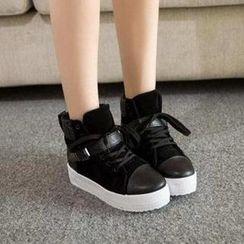 HOONA - 扣带厚底运动鞋