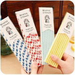 Momoi - Patterned Drinking Straws