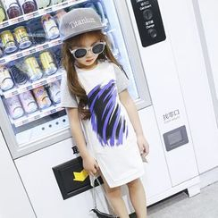 Lemony dudu - Kids Print Side Slit T-Shirt