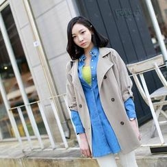 WITH IPUN - Tab-Sleeve Trench Coat
