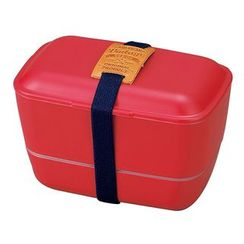 Hakoya - Hakoya American Vintage Dome 2 Layer Lunch Box (Red)