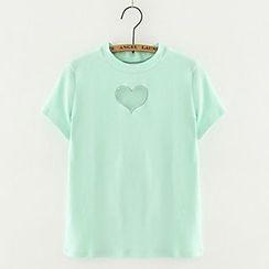 Meimei - Heart Cut Out T-Shirt