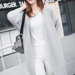 Machiga - Plain Long Knit Cardigan