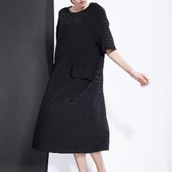 Halona - Short-Sleeve Shift Dress