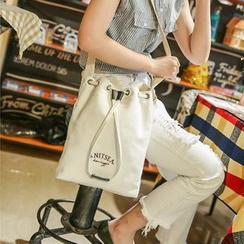 Seok - 印花帆巾水桶包