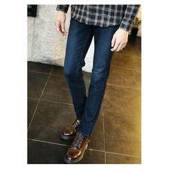 HOTBOOM - Plain Straight-Cut Jeans