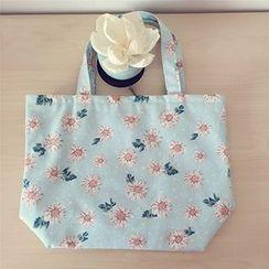 Ms Bean - Floral Canvas Handbag