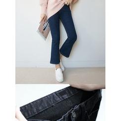 STYLEBYYAM - Cropped Boot-Cut Jeans
