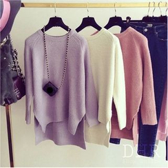 QZ Lady - Slit Dip-Back Sweater