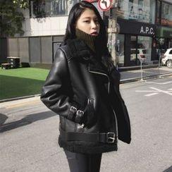 7th Mansion - Fleece Lined Biker Jacket